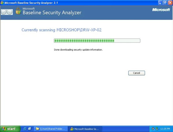 Microsoft Baseline Security Analyzer (MBSA) 2.1