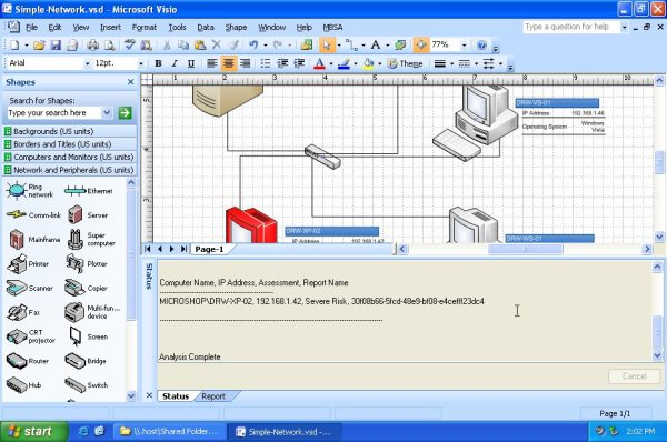 Visio Connector for MBSA 2.1 - Perform Scanning